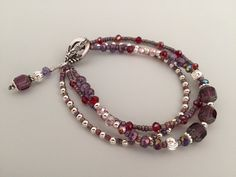 Handmade Beaded Bracelet w/Glass beads
