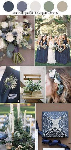 Blue Wedding Flowers navy, thistle blue and greenery garden wedding color ideas Perfect Wedding, Fall Wedding, Wedding Ceremony, Dream Wedding, Navy Blue Wedding Theme, Wedding Orange, Navy Blue Weddings, Wedding Ideas Blue, Navy Winter Weddings
