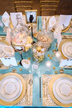 Holiday Brunch at Tiffany's table designed by Deirdre Zahl of Candy Shop Vintage for Ooh! Events - Photography by Clay Austin