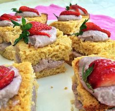 Strawberry & Vanilla Slice