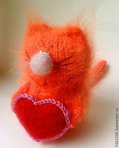 """Миниатюра ручной работы. Ярмарка Мастеров - ручная работа Рыжий кот """"Валентин"""" ( Мягкие игрушки, амигуруми, коты вязаные). Handmade."""
