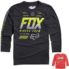 Fox Racing Escaped Youth Boys Top MX Motocross Long Sleeve Casual Shirt