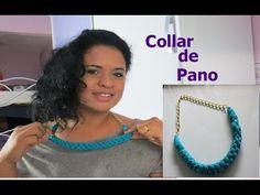 Collar de tecido (blusa velha) - tutorial video