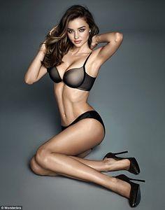 New photographs for Wonderbra's latest campaign have been unveiled, featuring Miranda Kerr