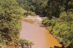 O vazamento foi identificado a partir da mudança da coloração do rio Itabirito, fato que chamou atenção da Secretaria de Meio Ambiente do município | foto: Secretaria de Meio Ambiente de Itabirito - Divulgação