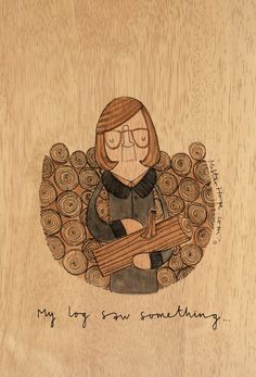 "twin peaks - log lady by mister hope. ""my log saw something."""