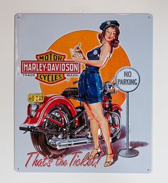 Ticket Babe Metal Sign   Palason, Montreal, Quebec