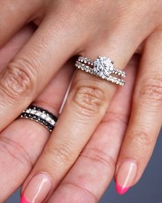 42 Top Round Engagement Rings: Best Rings Ideas %%page%% %%sep%% %%sitename%% Wedding Sets, Wedding Rings, Gold Wedding, Rings Cool, Or Rose, Diamond Rings, Vein Removal, White Gold, Engagement Rings