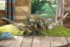 wagon wheel floral arrangement | horn floral arrangement a black forest decor exclusive an arrangement ...