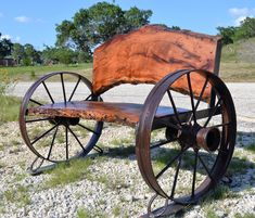 Benches - Sycamore Creek Creations Live Edge Furniture, Metal Furniture, Industrial Furniture, Rustic Furniture, Wagon Wheel Bench, Wagon Wheel Decor, Wagon Wheels, Rustic Light Fixtures, Rustic Lighting