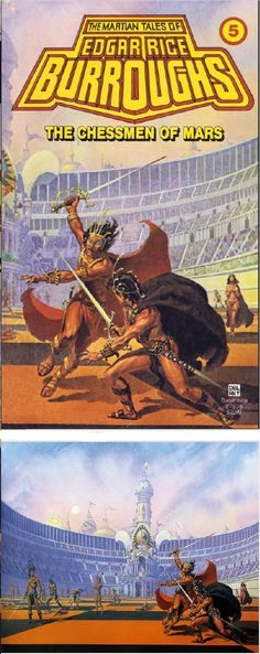 MICHAEL WHELAN - The Chessmen of Mars by Edgar Rice Burroughs - 1979 Del Rey / Ballantine