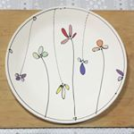 Dinner plate Ready to be glazed porcelain clay pottery freeceramics flowers…