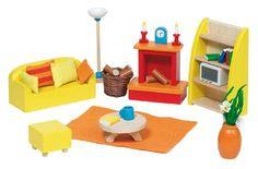 GoKi Wooden Doll's House Living Room