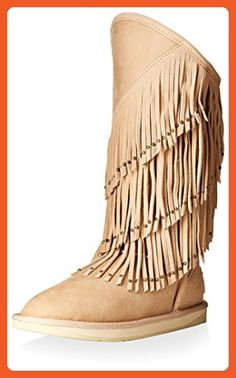 Australia Luxe Collective Women's Neilina Full Fringe Shearling Boot, Sand, 37 M EU/6 M US - Outdoor shoes for women (*Amazon Partner-Link)