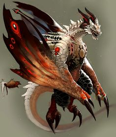 Wyvern Concept, Rummy R on ArtStation at https://artstation.com/artwork/wyvern-concept