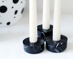 DIY Marbled Candle Holders by Fran for Design*Sponge
