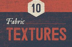 FREE! (25 April - 1 May 2016 only!) Download now! 10 Vintage Fabric Textures by GhostlyPixels on @creativemarket