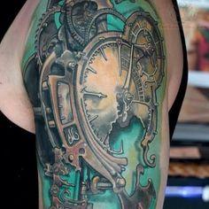 broken-clock-tattoo-on-left-shoulder.jpg (550×550)