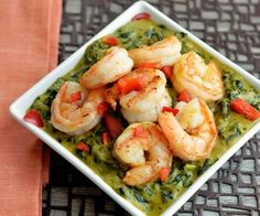 shrimp callaloo and parsnip curry