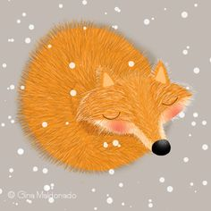 Gina Lorena Maldonado - Fox Sleeping In The Snow - GM