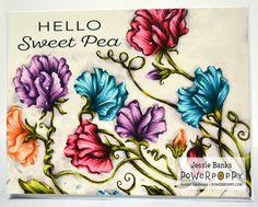 Sweet Pea Show Digital Stamp Set | Power Poppy by Marcella Hawley