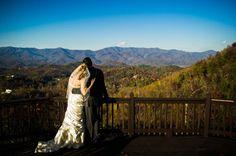 Mountain view wedding setting at Hawkesdene House