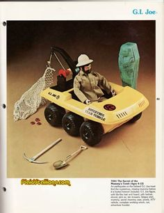 Catalog for the 1975 GI Joe Adventure Team Catalog featuring Mike Power Atomic Man Childhood Toys, Childhood Memories, Big Blue Whale, Gi Joe Vehicles, 70s Toys, Modern Toys, Ol Days, Toy Soldiers, Good Ol