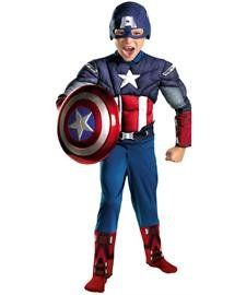 Captain America Avengers Classic Muscle Child (Medium, 7-8) * Click image for more details.