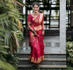 Kerala Saree Blouse Designs, Wedding Bells, Wedding Day, Indian Bridal, Indian Wear, Indian Outfits, Wrap Dress, Sari, Bride