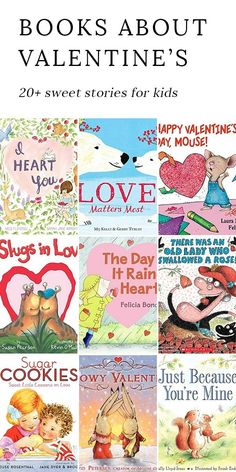 The sweetest Valentine's Day books, perfect for celebrating love, friendship, and kindness with the kids you love most! #booklists #valentinesday #kidsbooks via @https://www.pinterest.com/fireflymudpie/