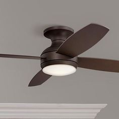 "52"" Casa Elite Oil-Rubbed Bronze LED Hugger Ceiling Fan - #8Y398 