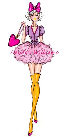 #Hayden Williams Fashion Illustrations.The Disney Diva Collection by Hayden Williams: Daisy Duck