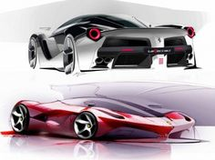 LaFerrari: design sketches and details