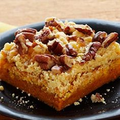 Pumpkin Chunkin' Cake (1 Really Large Can Pumpkin Pie Filling, 1 Package Yellow Cake Mix (Dry), Chopped Pecans, 2 Sticks of Butter, Melted, Bake; Serve with Whipped Cream and/or Vanilla Bean Ice Cream and Sprinkle with Pumpkin Pie Spice) [Made November 22, 2012]