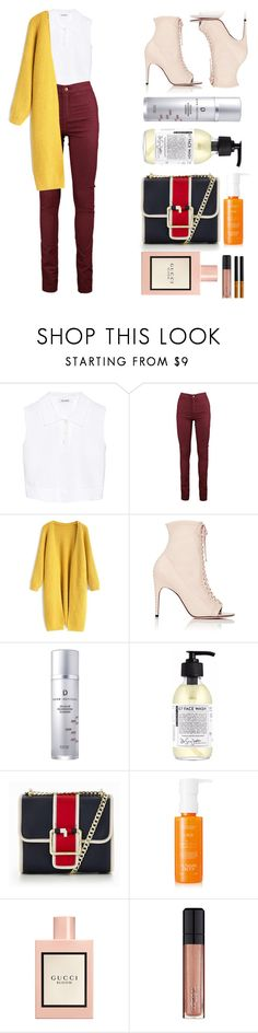 """""""Don't you cry"""" by aline-sofia on Polyvore featuring Neil Barrett, Chicwish, Sergio Rossi, Derm Institute, Tommy Hilfiger, Sunday Riley, Gucci, L'Oréal Paris and NYX"""