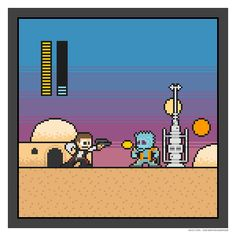 Star Wars meets Megaman (clearly, Han shoots first)