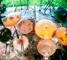 #drums #mapex #sabian #paiste #meinl #cymbals #vicfirth #soundcheck #nature #live #drumporn #life by dustondrums
