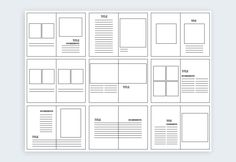 Layout Design: Types of Grids for Creating Professional-Look Booklet Design Layout, Page Layout Design, Print Layout, Brochure Layout, Corporate Brochure, Brochure Template, Layout Book, Text Layout, Editorial Design Layouts