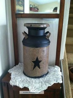 Country, Antique Milk Can. Perfect