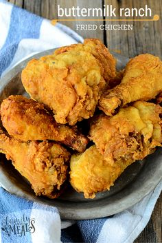 This Buttermilk Ranch Fried Chicken recipe is a blue ribbon winner. Moist, juicy chicken coated in a crispy, zesty ranch skin. It's the best fried chicken!