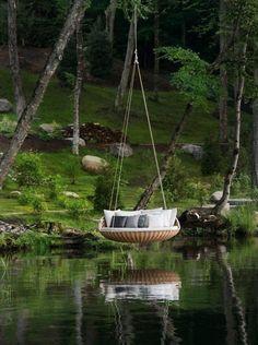 Swingrest over the river