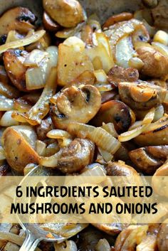 Side Dishes – The Keto Diet Recipe Cafe Sauted Mushrooms And Onions, How To Cook Mushrooms, Mushroom And Onions, Best Sauteed Mushrooms, Garlic Butter Mushrooms, Grilled Mushrooms, Saute Onions, Onion Recipes, Veggie Recipes