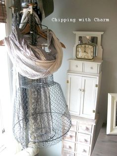 Upcycled...Repurposing a Fish Basket into a Funky Mannequin...