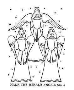 Printable of Three Angels
