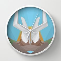 Father Earth Wall Clock by Bálint Gáspár - $30.00