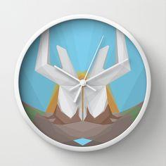 Father Earth Wall Clock by Bálint Gáspár - $30.00