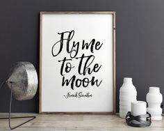 FRANK SINATRA PRINTFly Me To The MoonLove SignGift by TypoHouse