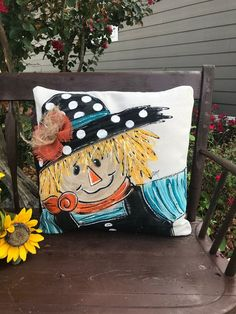 Pillows For Sale Online Key: 5960468257 Fall Pillows, Burlap Pillows, Burlap Bows, Throw Pillows, Handmade Pillow Covers, Handmade Pillows, Decorative Pillows, Scarecrow Painting, Autumn Painting