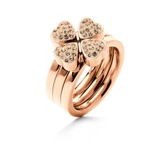 In love with Folli Follie clover ring