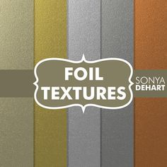 80% OFF Sale Foil Digital Papers Metallic Textures Gold. Silver, Platinum, Copper Commercial use Instant Download